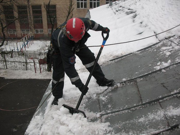 Организация работы по очистке крыш от снега