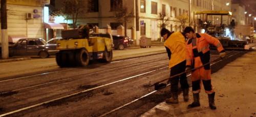 В Уфе дороги ремонтируют с помощью новых технологий