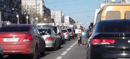 Попрошайки на дорогах Уфы – это проблема, не относящаяся к ГИБДД