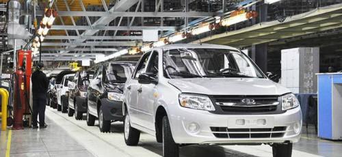 Производство легковых автомобилей в России снизилось на 27%
