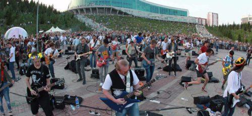 В Уфе прошел самый масштабный музыкальный флешмоб – «День 1000 музыкантов»