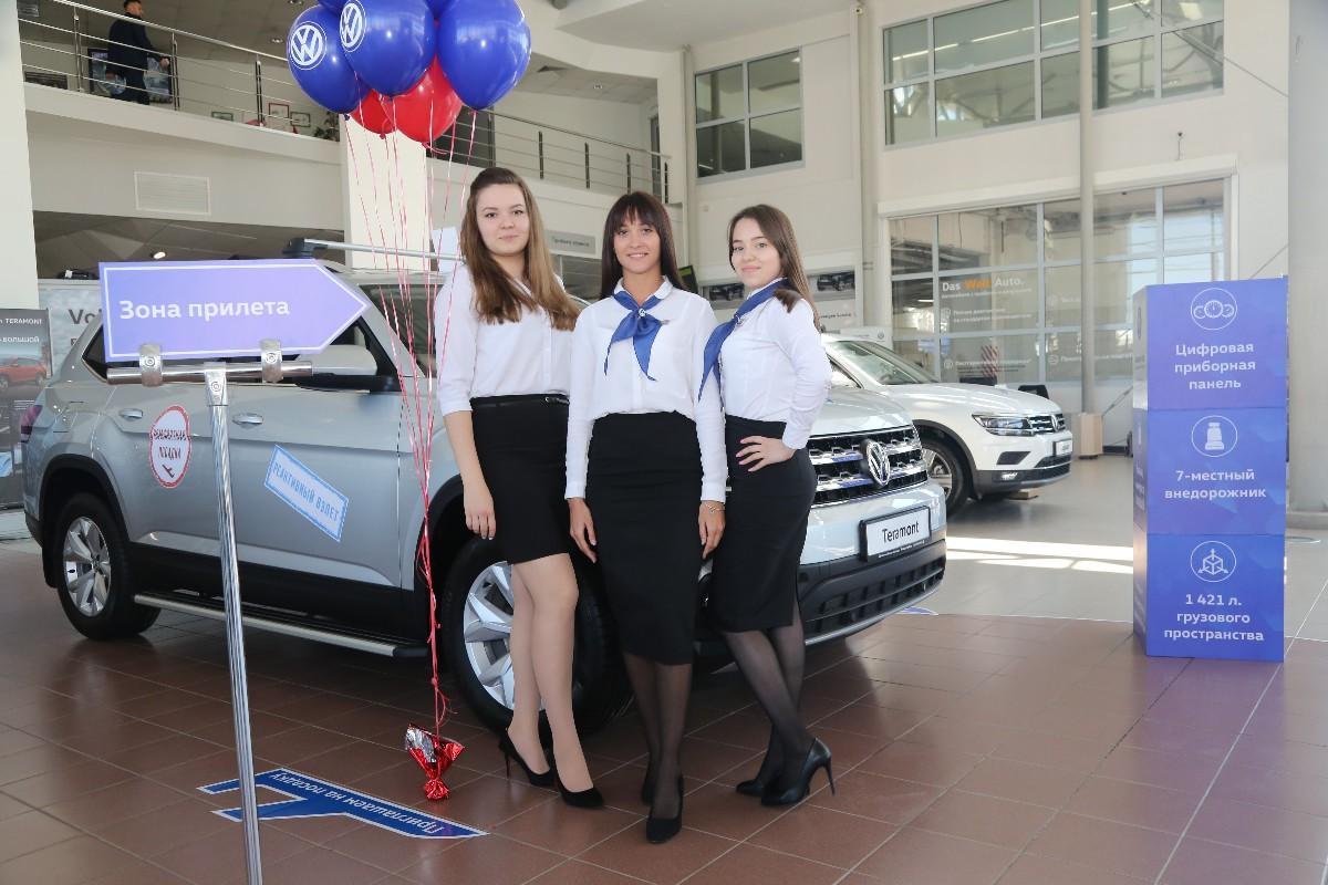 В Уфе презентовали Volkswagen Teramont. Автомобиль покупают уже после первого тест драйва