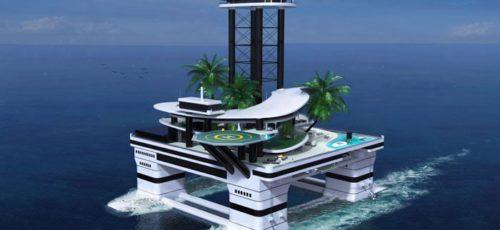 Передвижные частные острова для миллиардеров разрабатывают инженеры Migaloo Private Submarines