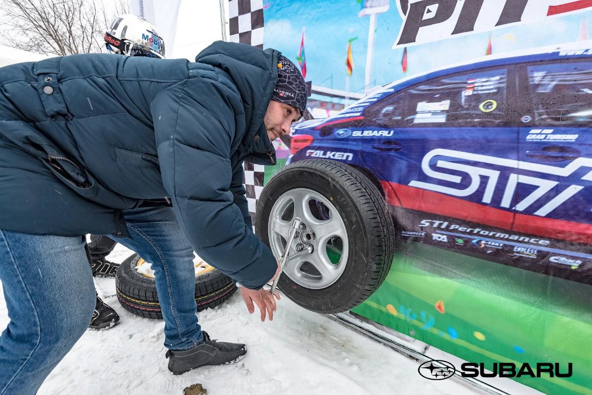 Снежный драйв Subaru на автодроме в Затоне